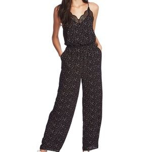 [1.STATE] Lace-Trimmed Camisole Jumpsuit